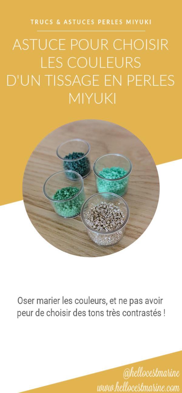 comment choisir les couleurs d'un tissage en perles miyuki delicas 11/0 pinterest