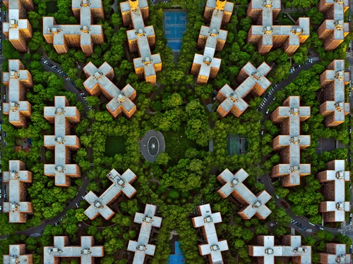by Jeffrey Milstein - NYC Stuyvesant | chidas fotos cool stuff - aerial vision of NYC