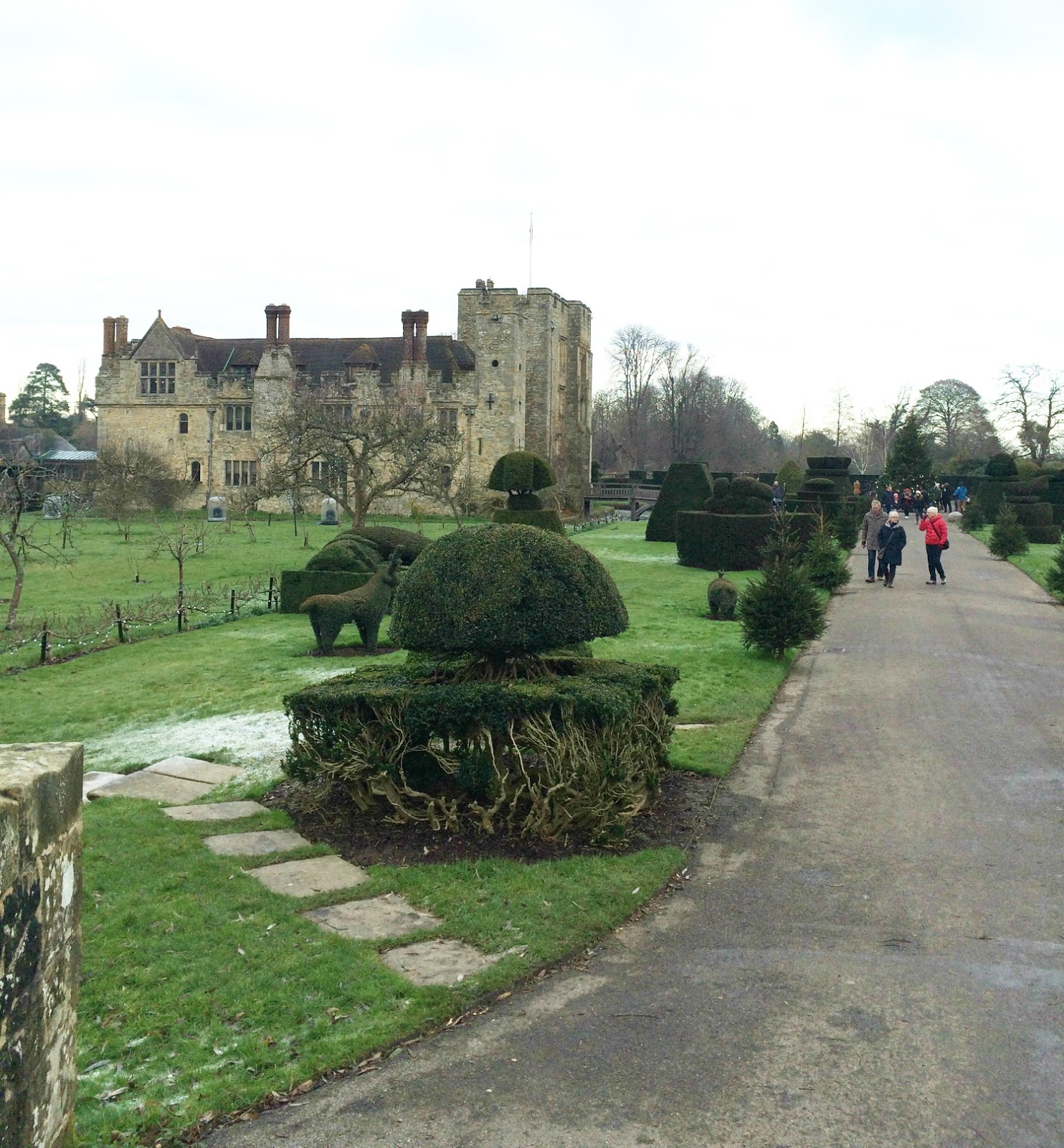 The View of Hever Castle, England