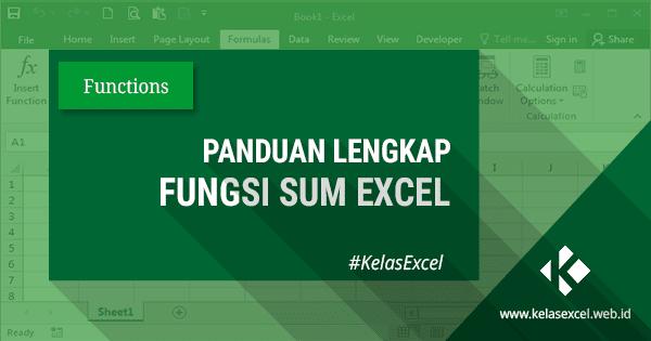 Tutorial Fungsi/Rumus Excel SUM