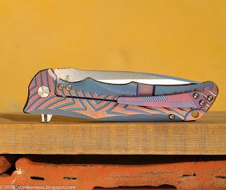 Y-Start LK5012 titanium flipper with VG10 blade