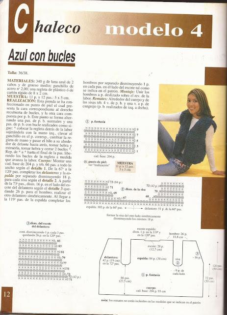 Patrón e instrucciones para tejer chaleco