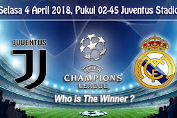 Prediksi Bola Liga Champions Juventus vs Real Madrid 4 April 2018