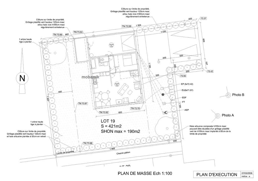 Plans de masse et d 39 x cution de la ma onnerie - Plan de masse maison individuelle ...