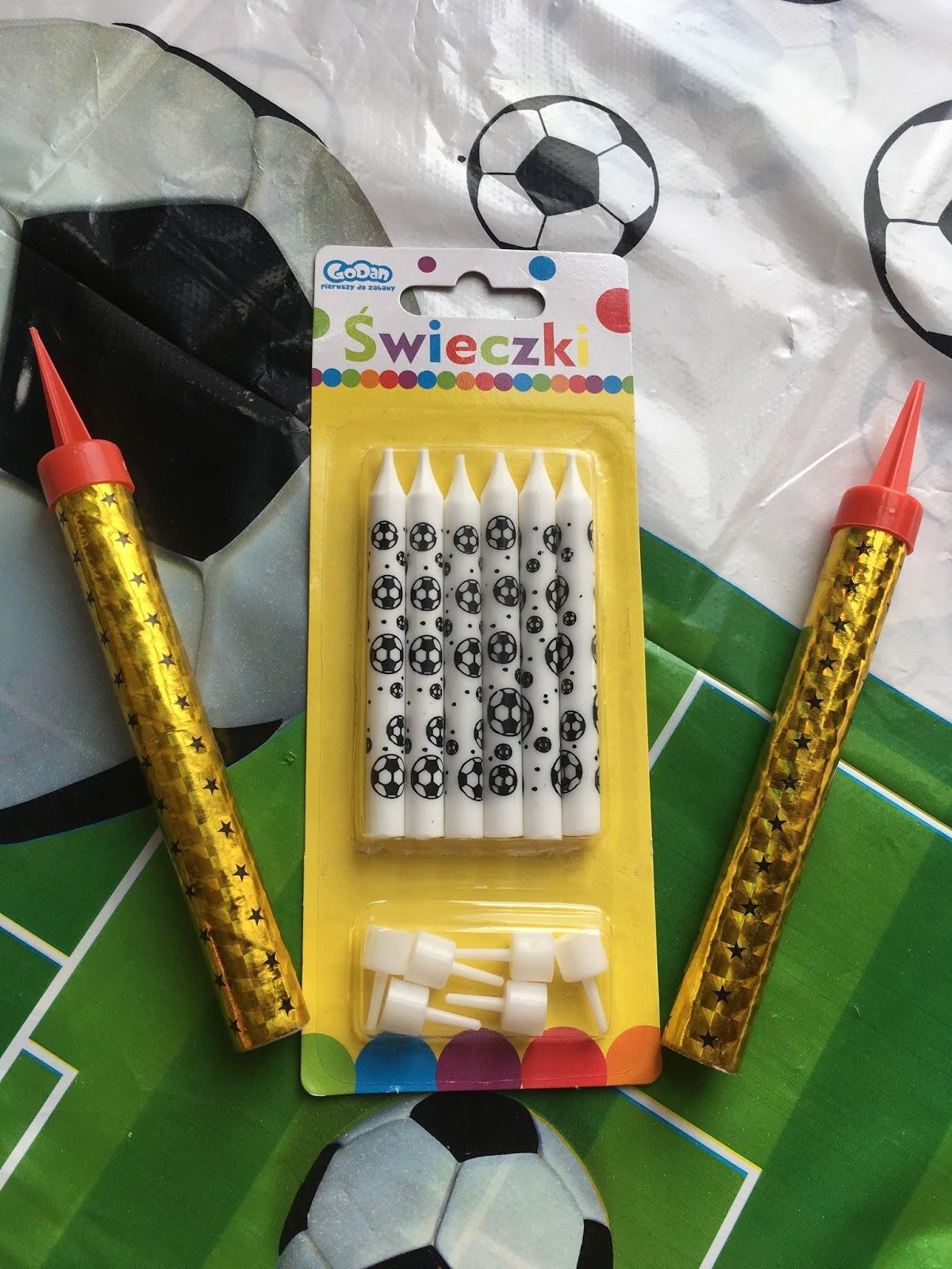 świeczki piłkarskie na urodziny piłkarskie