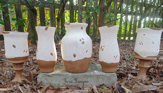 One year of crafts. How to paint Pottery Barn Inspired Tuscan Urns