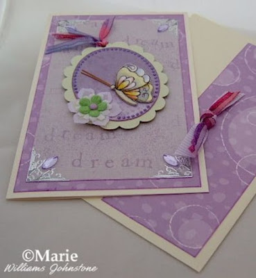 lilac purple spring green butterfly handmade card design craft papercraft