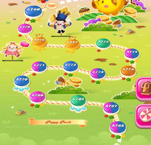 Candy Crush Saga level 5766-5780