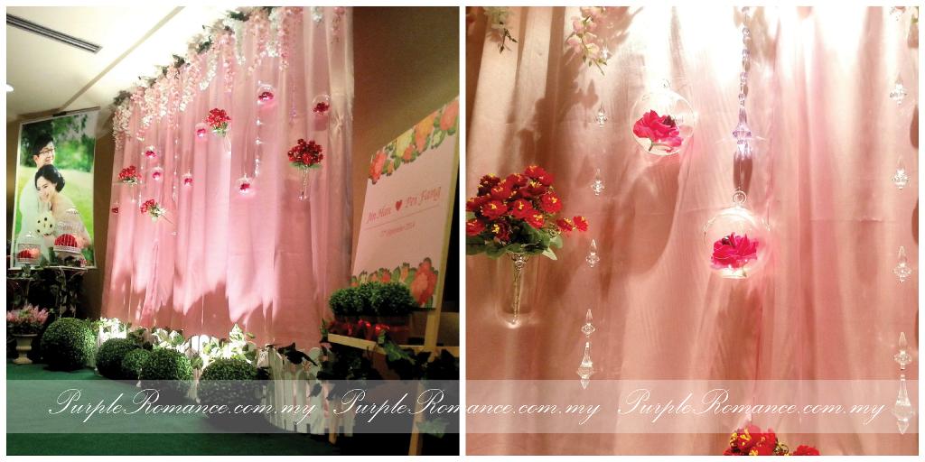 garden theme wedding decoration park royal hotel kuala lumpur purple romance event malaysia. Black Bedroom Furniture Sets. Home Design Ideas