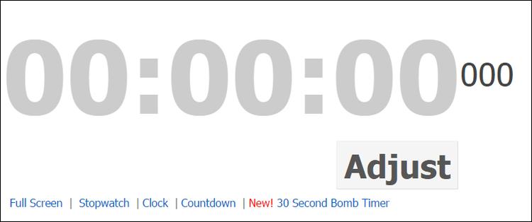 een online countdown timer  een stopwatch  een klok  u00e9n een rare bom