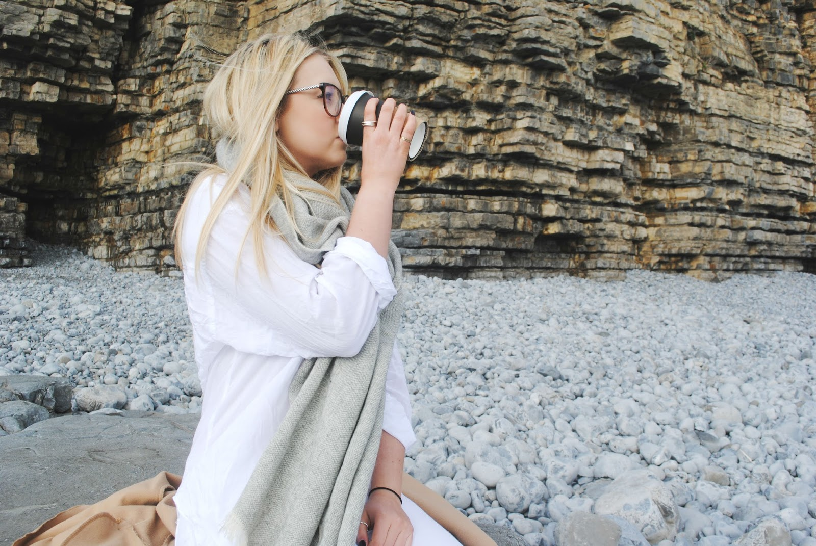 style edit fashion asos white jeans h&m camel coat converse primark specsavers love moschino beach sea