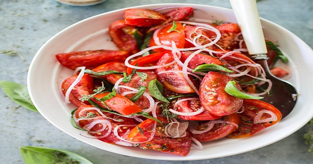 Summer Tomato Salad With Tangled Herbs Recipe