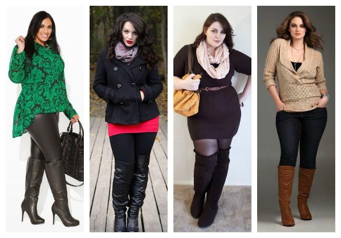 Outfits con botas para mujeres plus size 2020