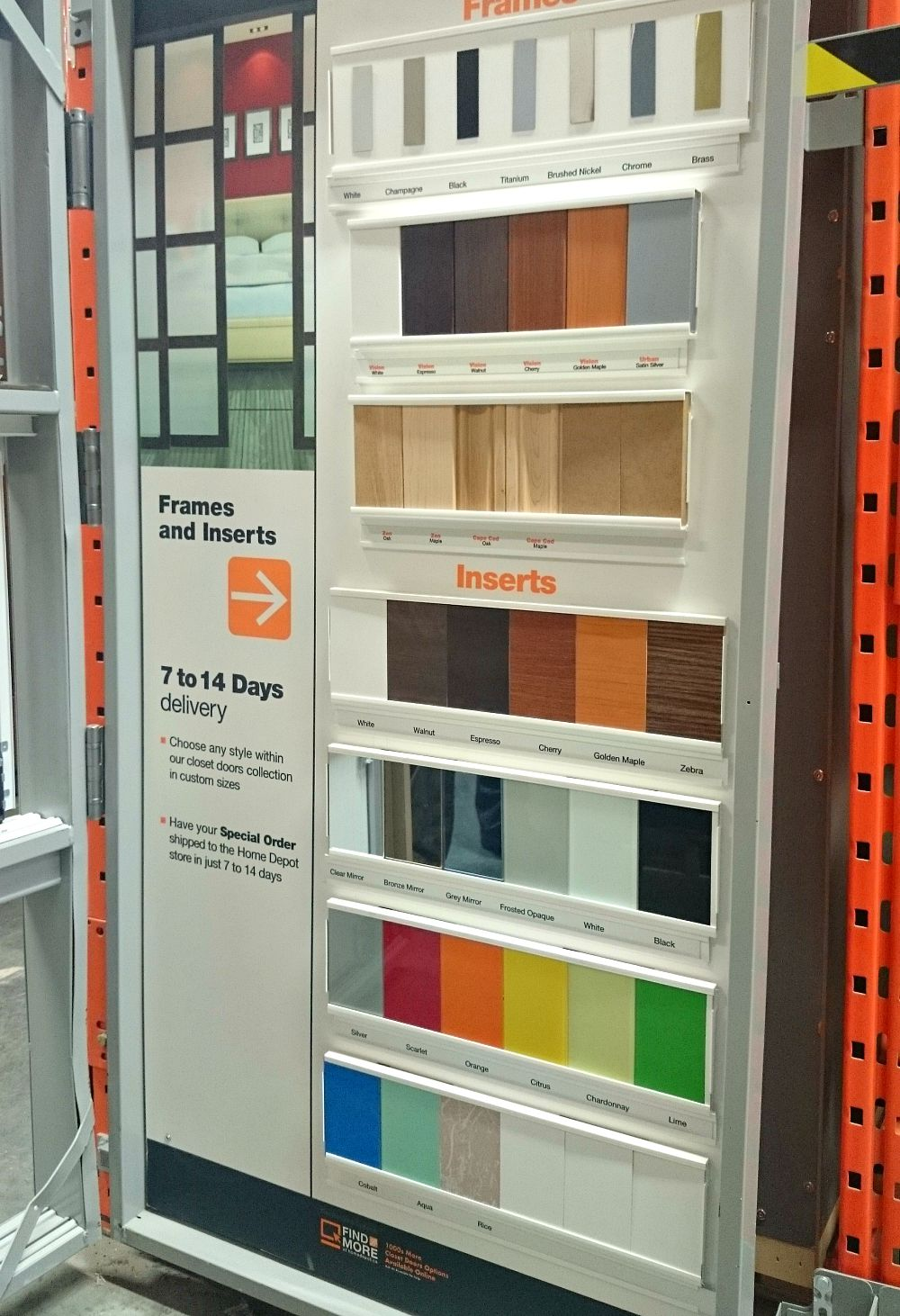 Home Depot sliding closet door options