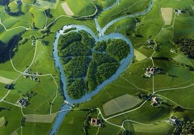 El río con forma de corazón, Dakota, Estados Unidos.
