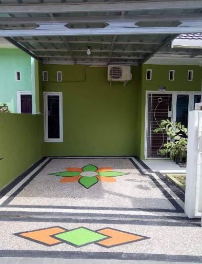 carport rumah minimalis type 30 dengan batu koral sikat