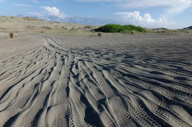 Tire Tracks Culili Point Paoay Ilocos Norte Philippines