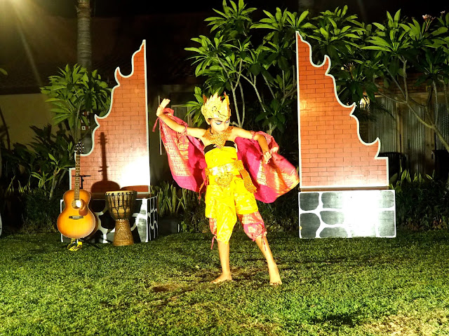 Traditional Balinese dance in Kubuku hotel, Pemuteran, Bali, Indonesia