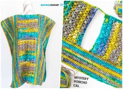 Poncho crochet multicolor Misterio