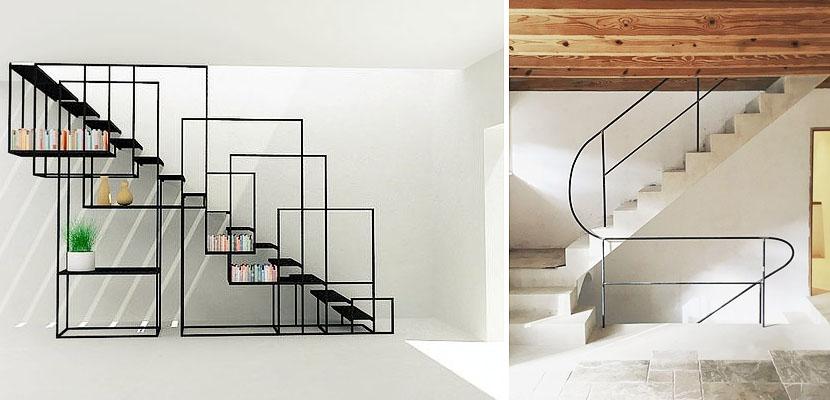 Marzua barandillas met licas para vestir su escalera - Barandillas para escaleras interiores modernas ...