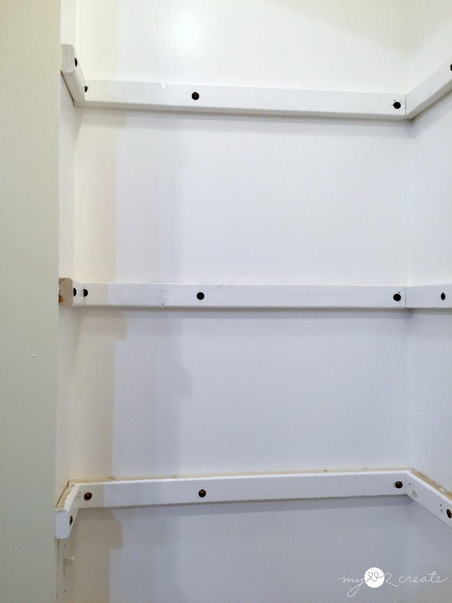 adding shelf supports