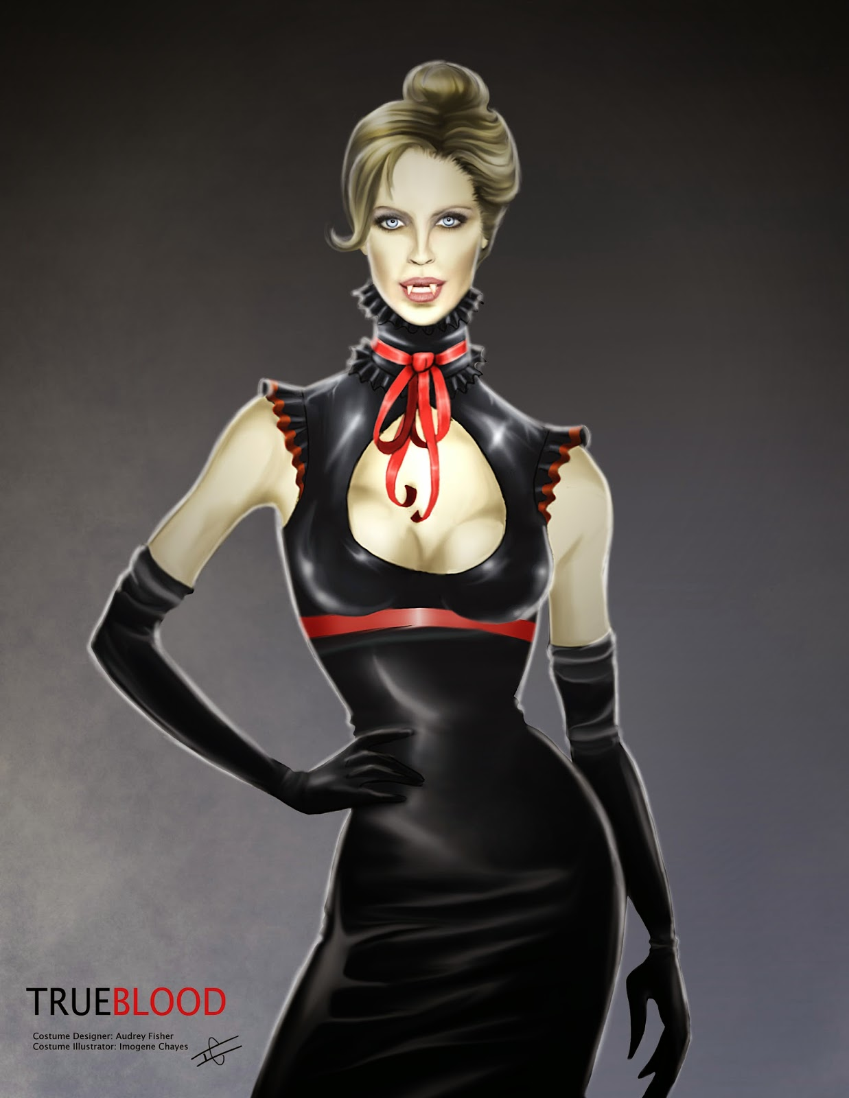 d4c9c68176 Illustratrix the art of imogene ann kilar true blood comic con jpg  1237x1600 True blood costumes