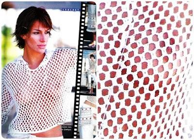 Top Crochet Fashion Blanco