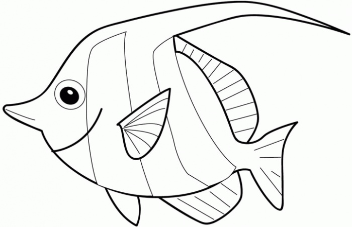 Free fish coloring pages for kids disney coloring pages for Color pages of fish
