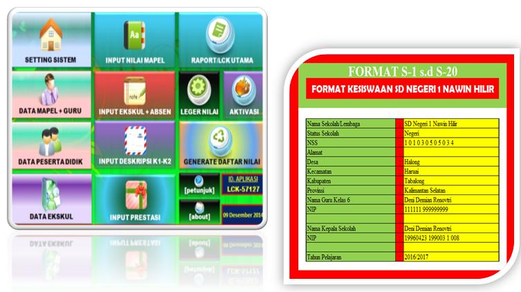 Aplikasi Kesiswaan Administrasi Sekolah Dengan Format Lengkap Kurikulum 2013 Revisi