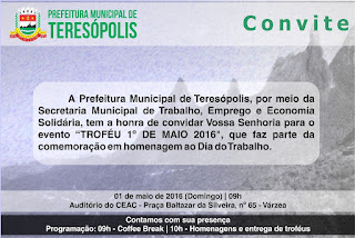 Evento com troféu no Dia do trabalho em Teresópolis