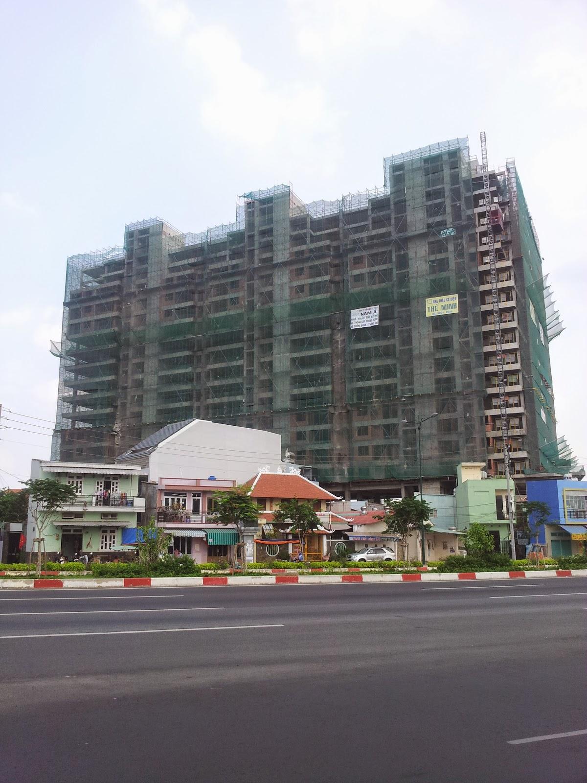 Tiến độ dự án căn hộ Sunny Plaza quận Gò Vấp ngày 3/5/2015