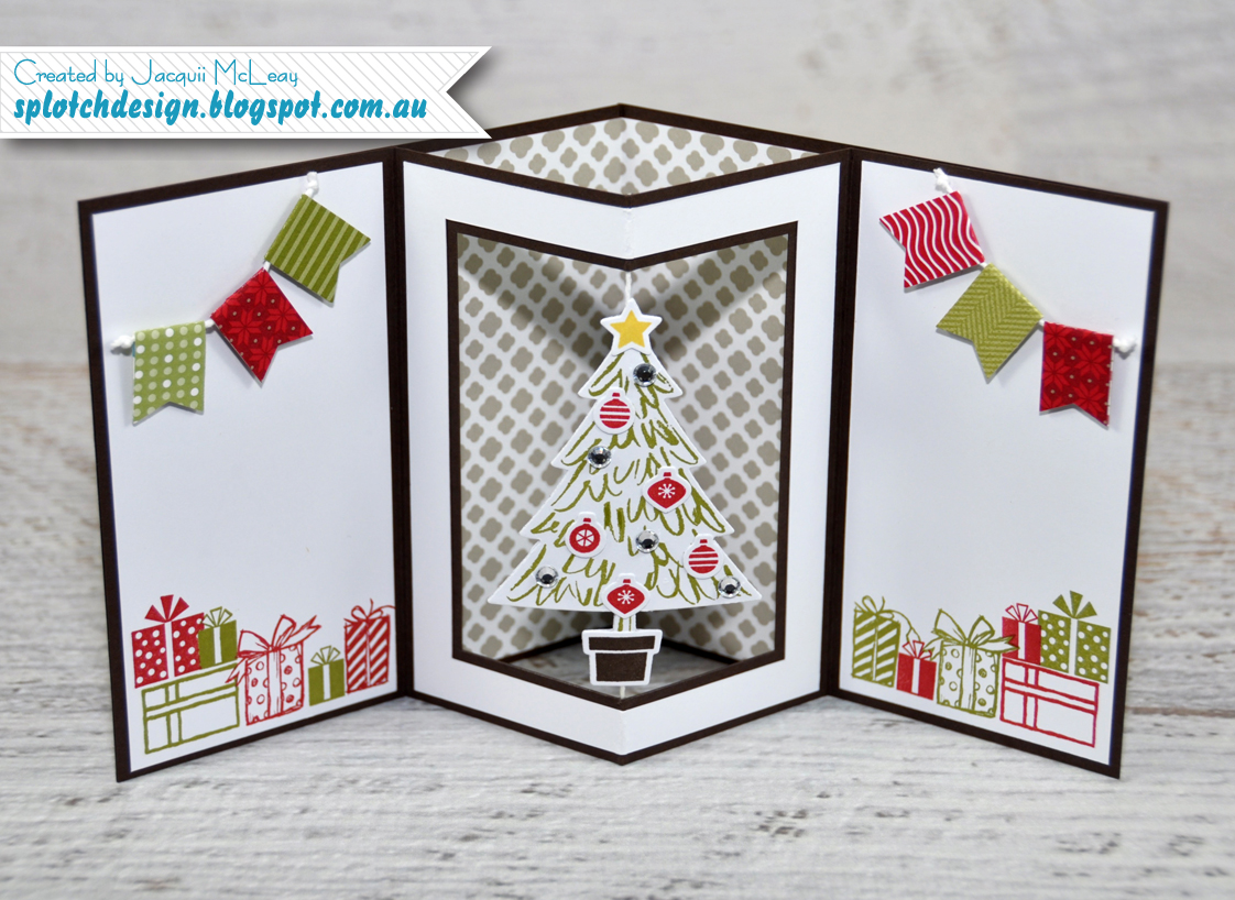 Splotch design independent stampin 39 up demonstrator my for How to make folded christmas cards