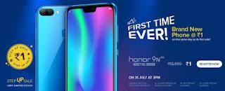 Honor Rs.1 Flash Sale – Buy Honor 9N In Just Rs.1