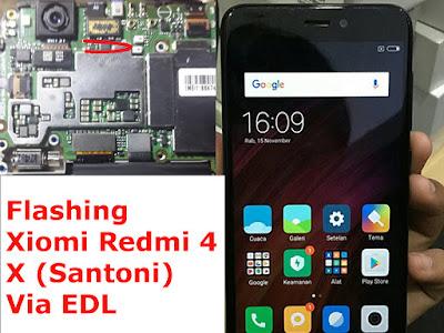 Cara-Flash-Xiomi-Redmi-4X-Santoni-Via-Test-Point-EDL-MODE