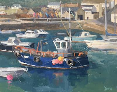 #133 'Lyme Regis Harbour' 9.5×12″