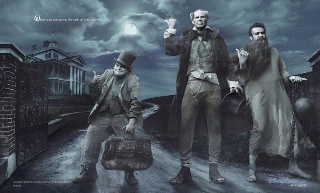 Os atores Jack Black como Phineas, Jason Segel como Gus e Will Ferrell como Ezra.