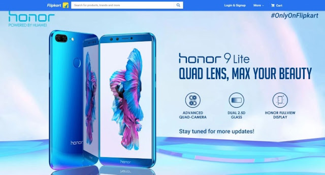 Honor 9 Lite Sale on Flipkart Today : Price in India, Offers and more