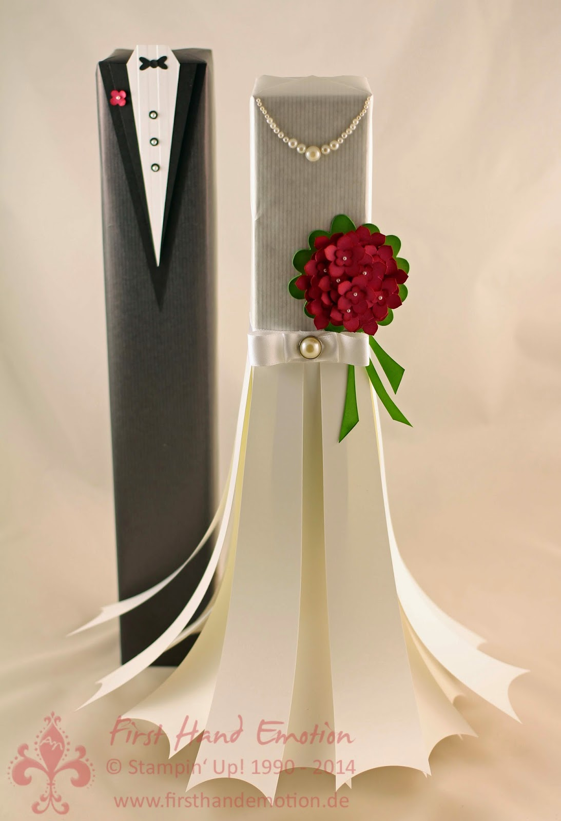 First Hand Emotion Braut und Brutigam Verpackung mit
