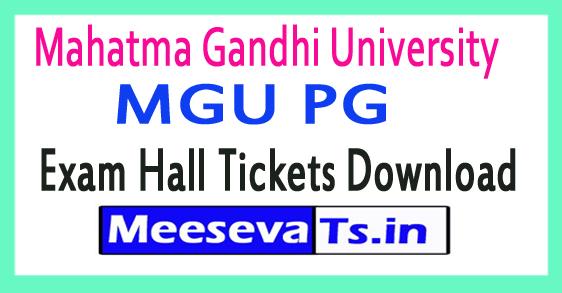Mahatma Gandhi University MGU PG Exam Hall Tickets Download 2018