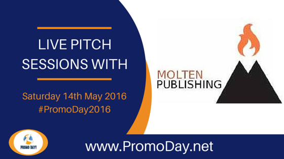 Molten Publishing will be taking pitches at Promo Day 2016 on Saturday 14th May
