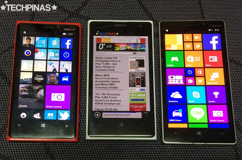 Nokia Lumia 930 vs 1020 vs 920