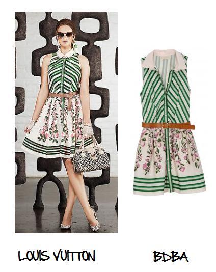 Clones 2011 vestido Louis Vuitton BDBA