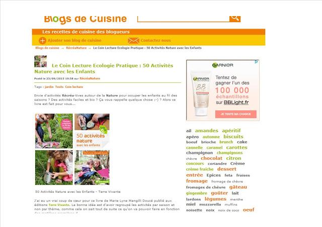 http://www.blogsdecuisine.com/recette/Le-Coin-Lecture-Ecologie-Pratique-50-Activites-Nature-avec-les-Enfants-341176.html