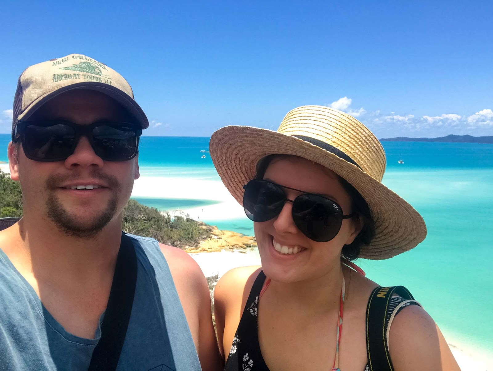 selfie in the whitsundays