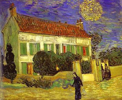 Casa bianca di notte van gogh
