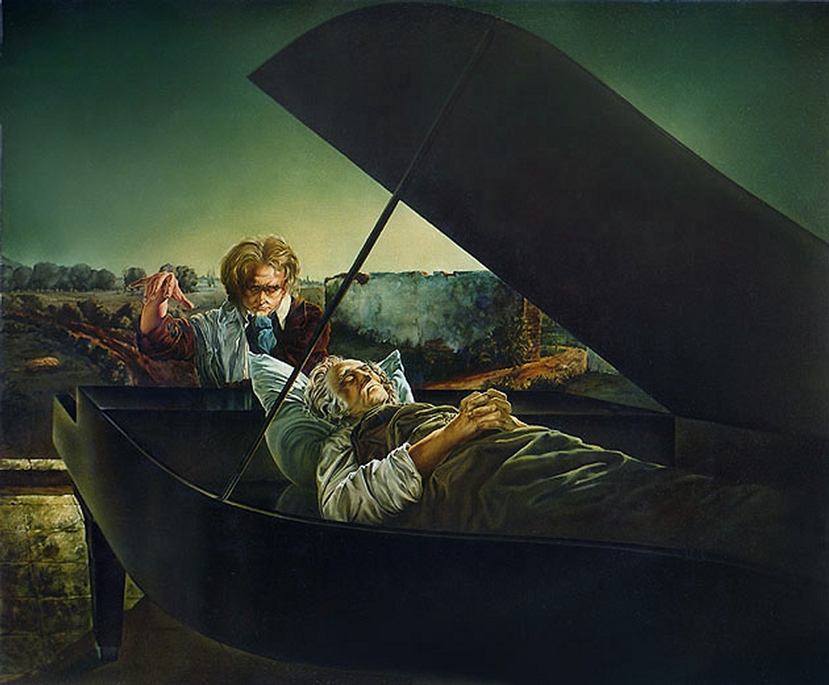 10-The-Corner-of-Beethoven-s-Mouth-Siegfried-Zademack-Surreal-Oil-Paintings-that-tell-us-a-Story-www-designstack-co