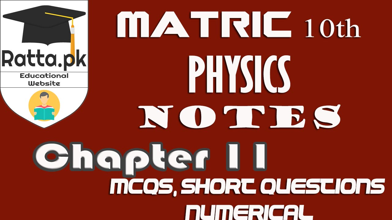 10th class Physisc Chapter 11 Sound Notes | MCQs, Short Questions & Numerical