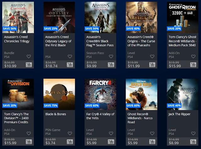 الإعلان عن تخفيضات رهيبة جدا على عناوين شركة Ubisoft من خلال متجر PlayStation Store