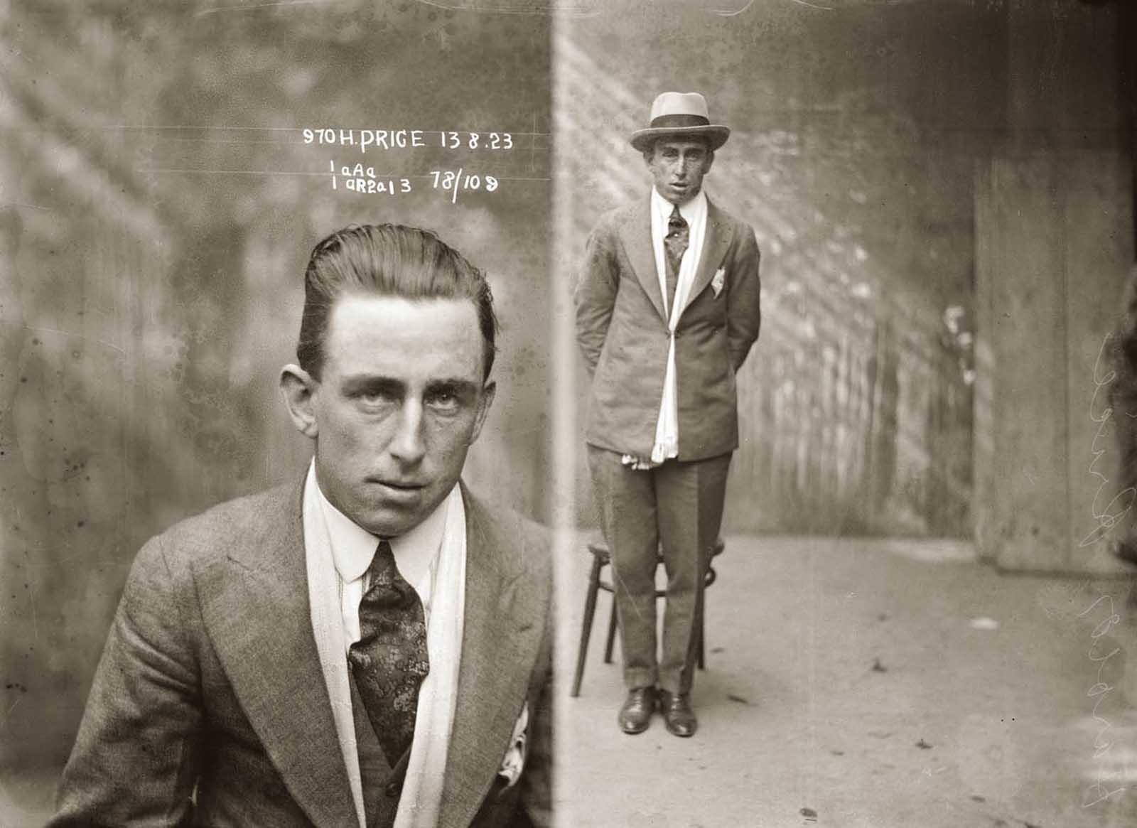 Harold Price. 1923.