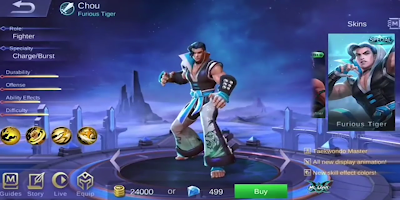 Skin Chou - Furious Tiger